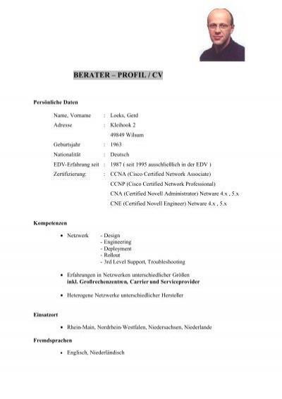 Beraterprofil / CV mit Projektnachweis - health consulting network
