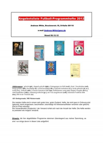 SC 1903 Weimar Programm 1996//97 FV Zeulenroda