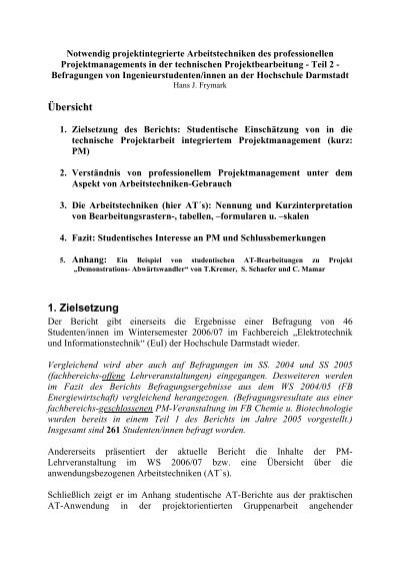 Frymark Hochschule Darmstadt