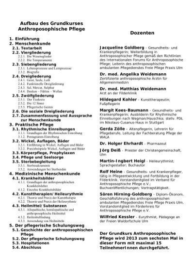 Grundkurs anthroposophische pflege in ulm 2013 - Anthroposophische mobel ...