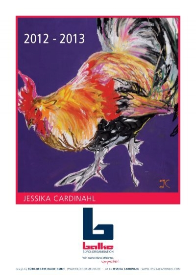 Kunstkalender 2012 2013 Jessika Cardinahl Buro Bedarf Balke