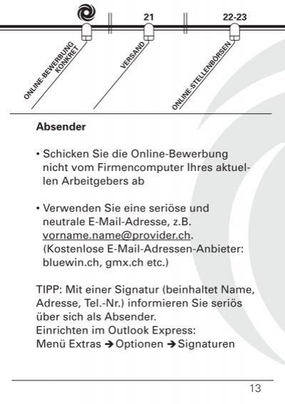 Seite Online Bewerbung Ja
