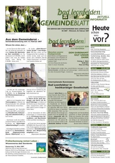 Singlebrse Bad Leonfelden, Erotik Anzeigen Lienz