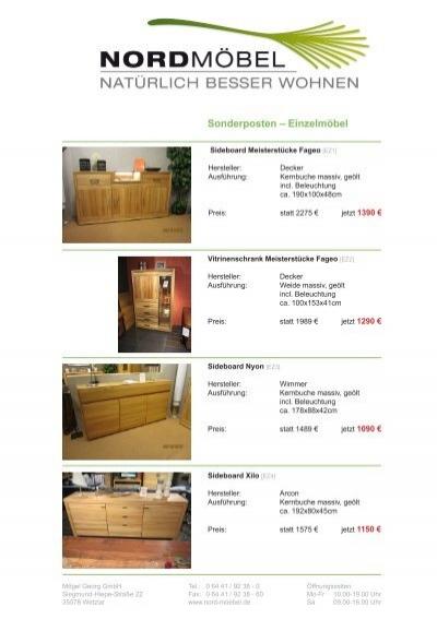 Sonderposten – Einzelmöbel - Möbel Georg GmbH