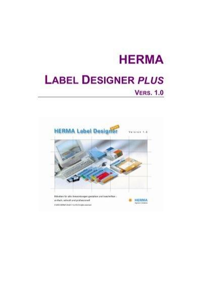 Kurzbeschreibung Von Herma Label Designer Plus Papier Mehr