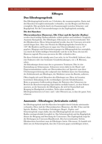 Anatomie - Ellenbogen (Articulatio cubiti) - Dr. Gerald Kuchling