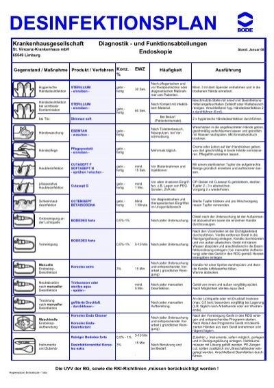 Diagnostik - und Funktionsabteilungen Endoskopie - St