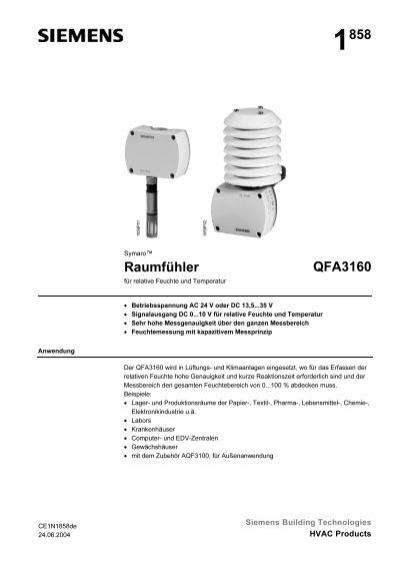 1858 Raumfühler QFA3160 - Siemens