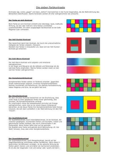 die sieben farbkontraste. Black Bedroom Furniture Sets. Home Design Ideas