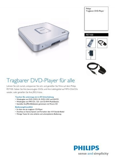 pet100 12 philips tragbarer dvd player. Black Bedroom Furniture Sets. Home Design Ideas