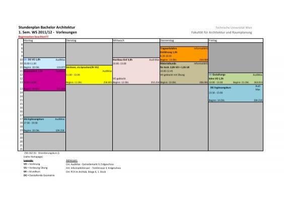 Stundenplan bachelor architektur 1 sem ws 2011 12 for Tragwerkslehre pdf