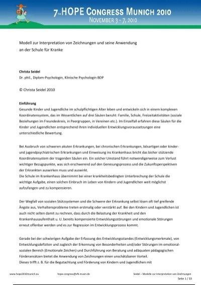 Modell Zur Interpretation Von Zeichnungen Und Seine Anwendung
