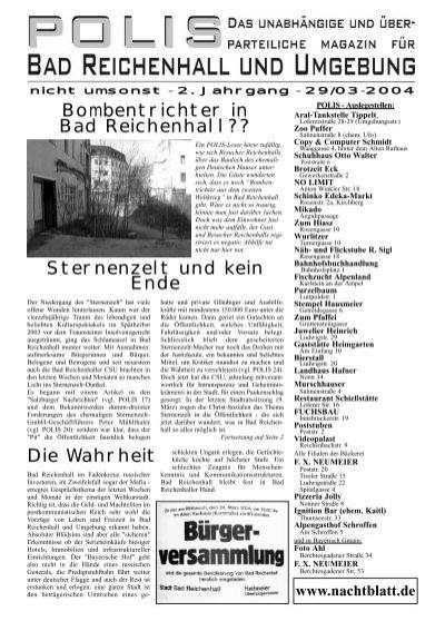 Bombentrichter in Bad Reichenhall?? Sternenzelt und