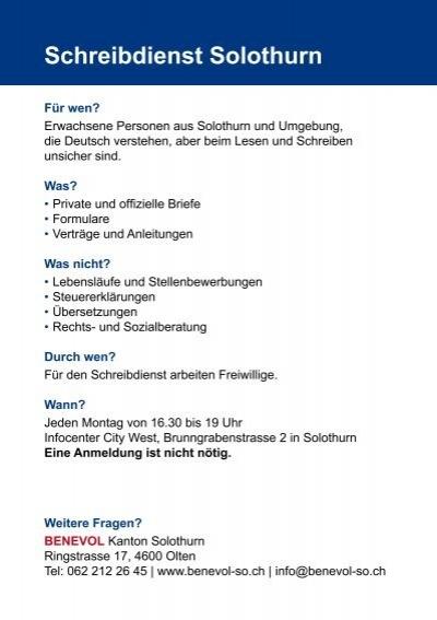 Offizielle Briefe Deutsch : Schreibdienst solothurn f