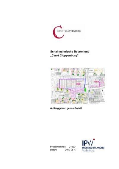 """9dd65fc2912373 Schalltechnische Beurteilung """"Carré Cloppenburg"""" - Stadt ..."""