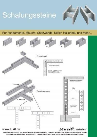 schalsteine mauern anleitung free vertikale rohre im betonkern mssen in der statik werden wenn. Black Bedroom Furniture Sets. Home Design Ideas