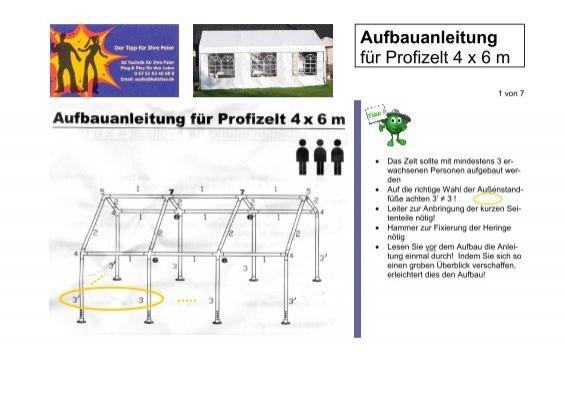 Aufbauanleitung F R Profizelt 4 X 6 M