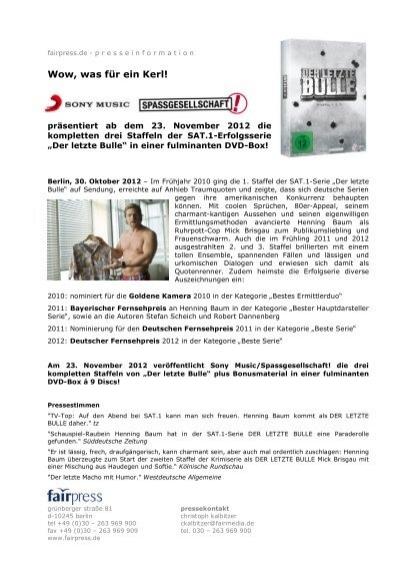 Dvd Box Der Letzte Bulle Staffel 1 2