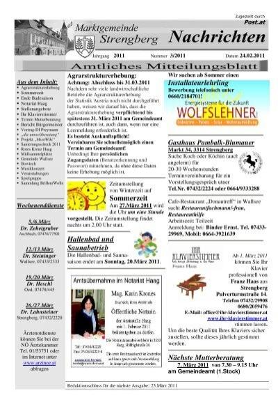 Strengberg singles kreis, Partnersuche ab 60 ernstbrunn