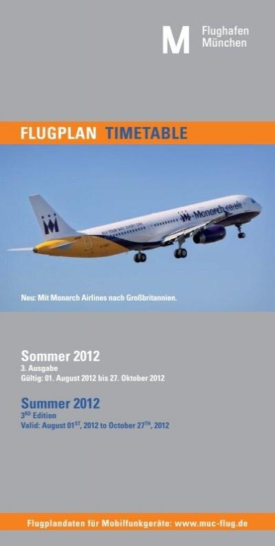 FLUGPLAN TIMETABLE - Flughafen München