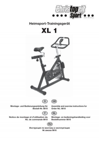 Heimsport-Trainingsgerät XL <b>1</b> - Christopeit Sport