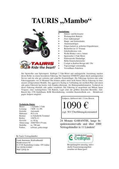 Tauris Mambo Vom 03012009