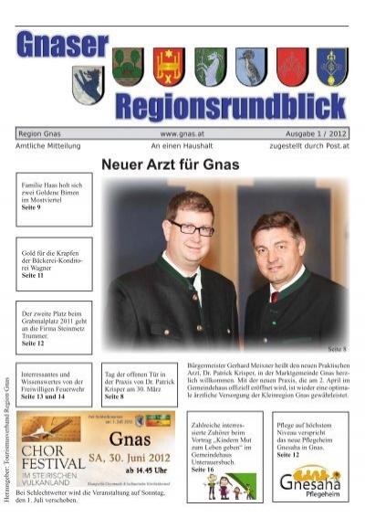 03151 / 2260 - Neuigkeiten der Marktgemeinde Gnas