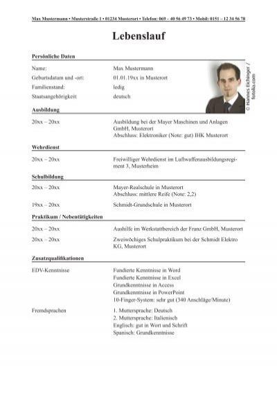 Fantastisch Beispiel Lebenslauf Für Frisch Absolvent Fotos - Entry ...