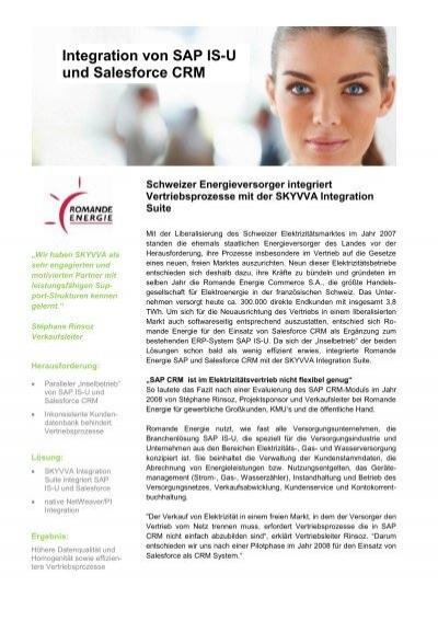 Integration von SAP IS-U und Salesforce CRM - Skyvva.com