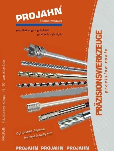 PROJAHN Spiralbohrer Set 91tlg HSS-G DIN 338 Typ N  1-10 mm 60436 Stahl Alu Guss