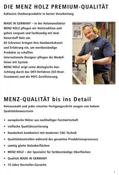 Menz Holz Preisliste 2012