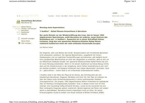 Pagina 1 De 4 Nextroom Architektur Datenbank 24 12 2007 Http