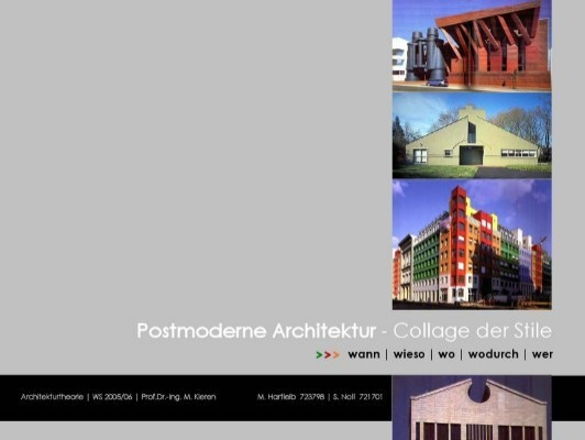 Postmoderne architektur collage der stile - Postmoderne architektur ...
