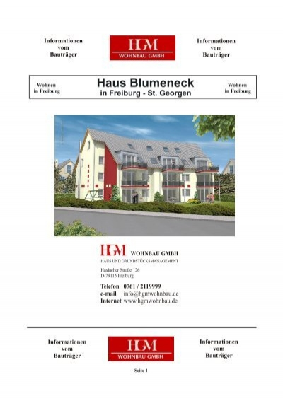 haus blumeneck in freiburg st georgen hgm wohnbau gmbh. Black Bedroom Furniture Sets. Home Design Ideas