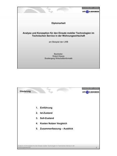 Diplomarbeit Analyse Und Konzeption Für Den Lpz E Business