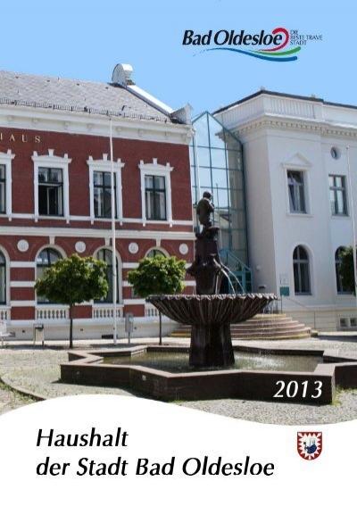 Haushaltsplan Mit Haushaltssatzung 2013 Bad Oldesloe