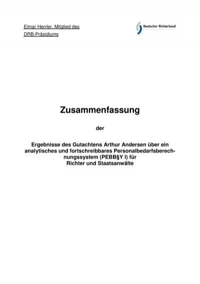 Zusammenfassung - Deutscher Richterbund