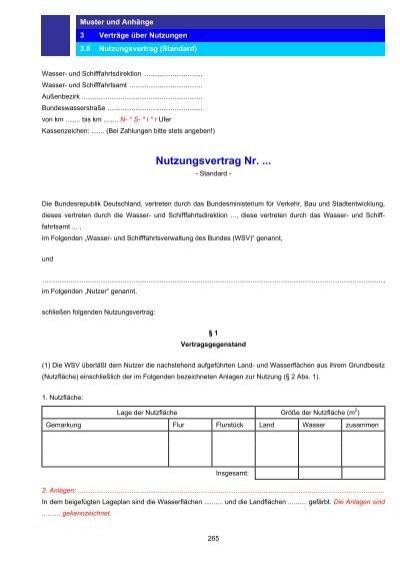 Muster Nutzungsvertrag
