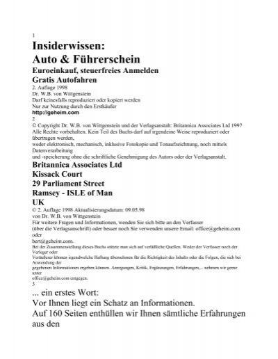 Insiderwissen: Auto & Führerschein - Emotion Experts