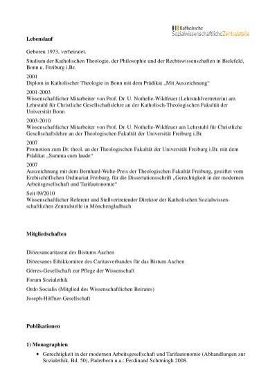 lebenslauf publikationen 20120608 katholische - Publikationen Im Lebenslauf