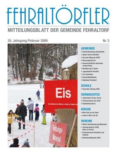 mitteilungsblatt der gemeinde fehraltorf gemeinde schule