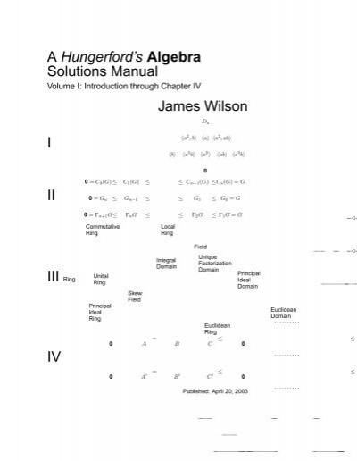 a hungerford s algebra solutions manual james wilson i ii iii cmm rh yumpu com Algebra Solution Set Calculator No Solution Algebra