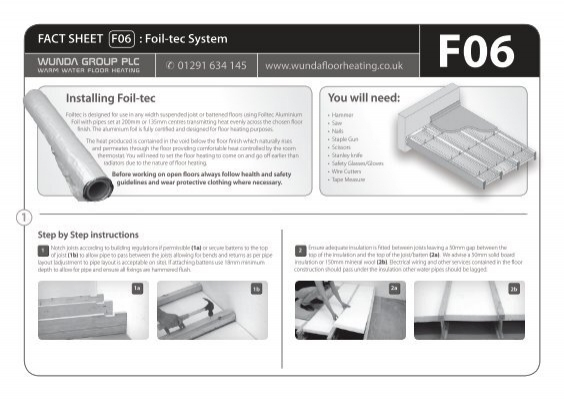 1 fact sheet f06 foil tec system wunda floor heating asfbconference2016 Choice Image