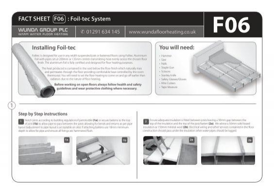 1 Fact Sheet F06   Foil-tec System