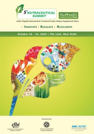 5th Nutraceutical Brochure - nutra india summit