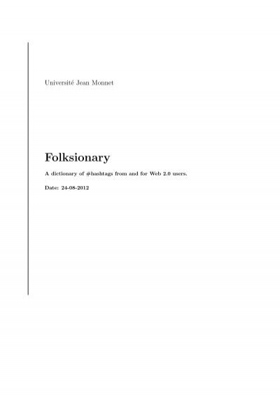 Folksionary