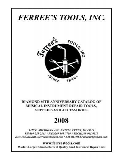 Cover thru - Ferree's Tools Inc