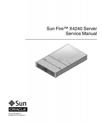 sun fire x4240 server service manual oracle documentation rh yumpu com
