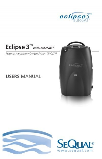 eclipse 3 user manual sequal technologies rh yumpu com Owner's Manual sequal eclipse 3 autosat user manual