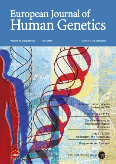 European Human Genetics Conference 2006 In Conjunction With